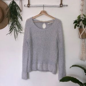 L Lauren Conrad light blue fuzzy knit sweater
